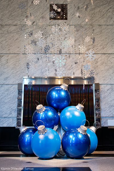 Giant Blue Ornaments